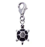 Sterling Silver and Black Enamel Turtle Charm - SilverAndGold.com Silver And Gold