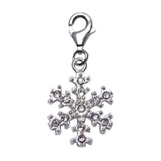 Sterling Silver and Crystal Gemstone Snowflake Charm - SilverAndGold.com Silver And Gold