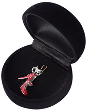 Sterling Silver Red Enamel High Heel Mary Jane Shoe Charm with Rivet Detail - SilverAndGold.com Silver And Gold