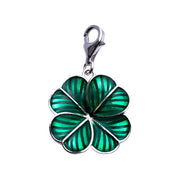 Sterling Silver Lily Pad Charm in Green Enamel - SilverAndGold.com Silver And Gold