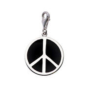 Triple Pendant Peace Charm Bracelet in Enamel and Sterling - SilverAndGold.com Silver And Gold