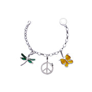 Sterling Silver Charm Bracelet: Butterflies and Dragonflies - SilverAndGold.com Silver And Gold