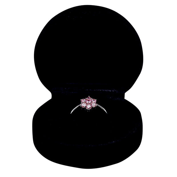 Sterling Silver & Pink Cubic Zirconia Ring