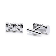 Classic Pillar Style Cufflinks in Sterling Silver | SilverAndGold