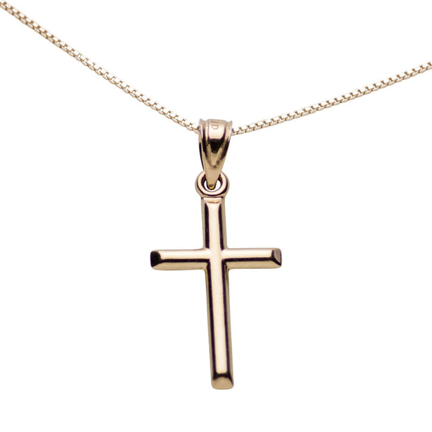 14K Yellow Gold Cross Pendant Necklace