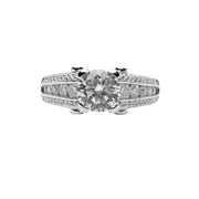 Round Cut Cubic Zirconia Engagement Ring | SilverAndGold