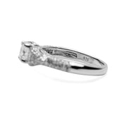 Sterling Silver Round Cut Clear Cubic Zirconia Ring