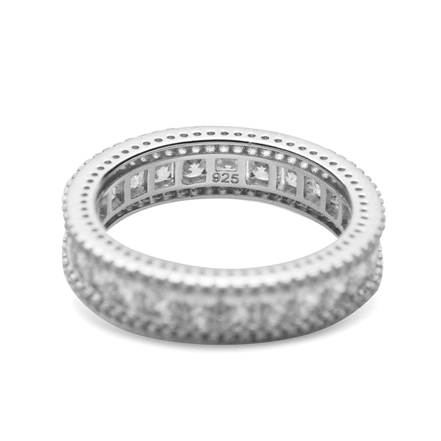 Princess Cut Cubic Zirconia Eternity Ring | SilverAndGold