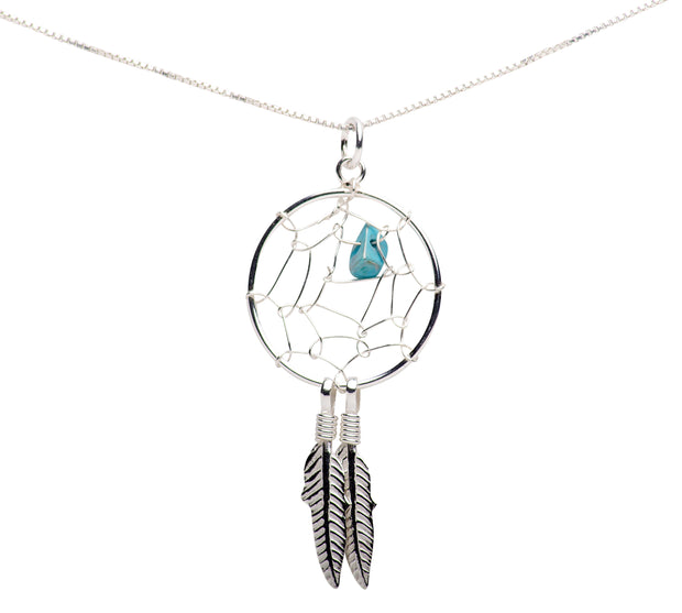 Sterling Silver Dreamcatcher Pendant Necklace