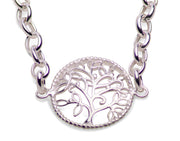 Sterling Silver Tree of Life Bracelet 7 Inch With Extension