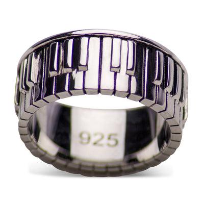 Sterling Silver Deluxe Piano Keys Ring