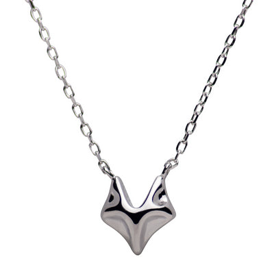 Sterling Silver Fox Necklace