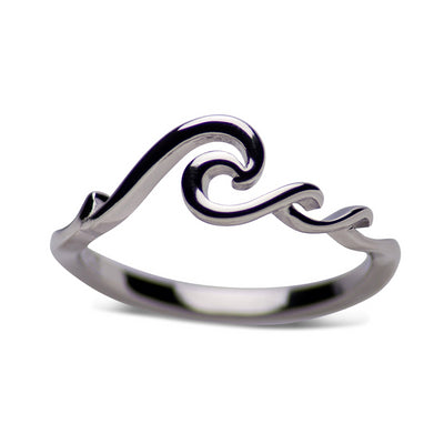Sterling Silver Rolling Waves Ring