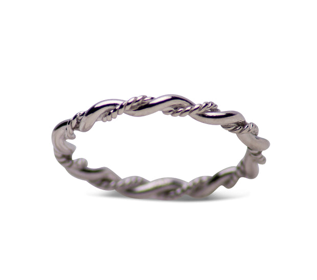 Sterling Silver Twist Rope Stackable Ring