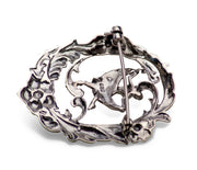 Marcasite & Sterling Silver Dancing Lady Brooch Pin