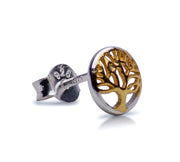 14K Gold Plated Tree of Life Earrings | SilverAndGold
