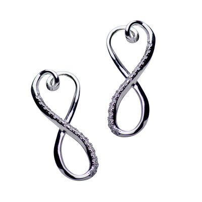 Infinite Love Sterling Silver & Cubic Zirconia Earrings