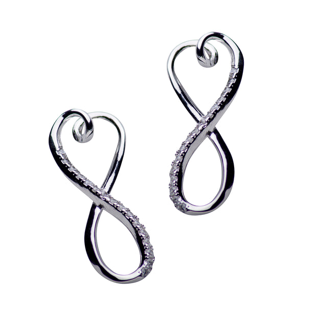 Infinity & Heart Cubic Zirconia Earrings | SilverAndGold