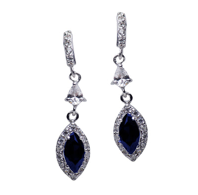 Cubic Zirconia & Created Sapphire Earrings | SilverAndGold