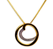 14K Gold Plated Sterling Silver 3D Infinity Heart Pendant Necklace