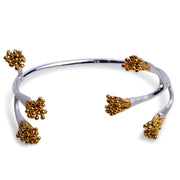 Tree Branch Bangle in Matte Sterling Silver & 18K Yellow Gold Plating