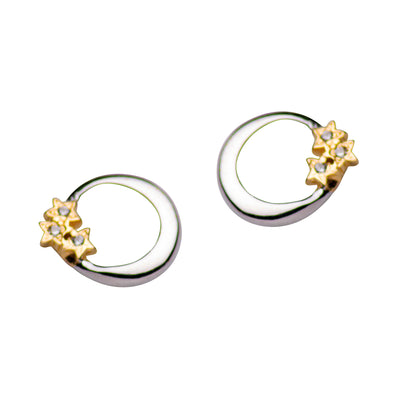 Silver Moon & Gold Star Earrings | SilverAndGold