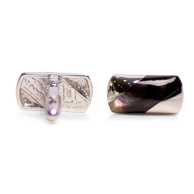 Classical Abalone Sterling Silver Cufflinks | SilverAndGold