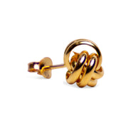 Classic 18K Yellow Gold Plated Sterling Silver Love Knot Earrings