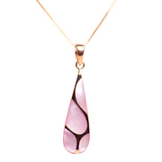 Pink Mother of Pearl & 18K Rose Gold Plated Sterling Silver Pendant