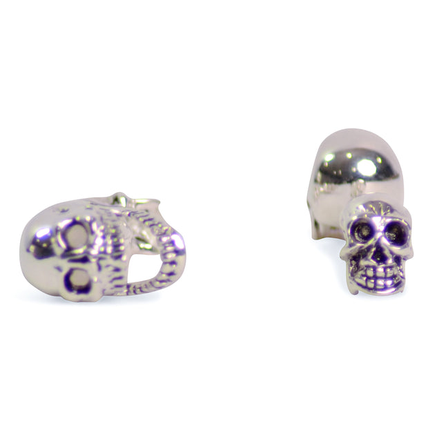 Movable Jaw Sterling Silver Skull Cufflinks | SilverAndGold