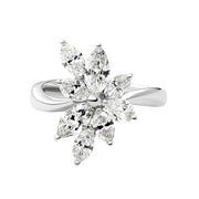18K White Gold Ring with 1.80 TCW Diamond