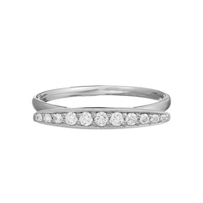 14K White Gold Ring with 0.18 TCW Diamond
