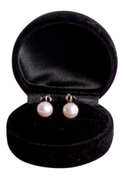 8 mm Brilliant White South Seas Classic Cultured Pearl Stud Earrings in Sterling Silver