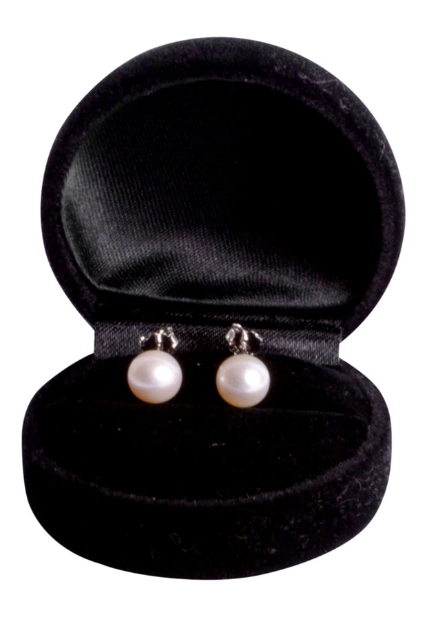 Freshwater South Seas Classic White 8 mm Pearl Stud Earrings