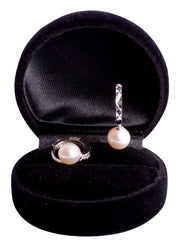 White Pearl Sterling Silver Dangle Earrings | SilverAndGold