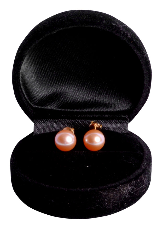 9mm Classic Pearl Earrings in 14K Gold | SilverAndGold