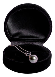 14K White Gold 10 mm Tahitian Pearl Necklace
