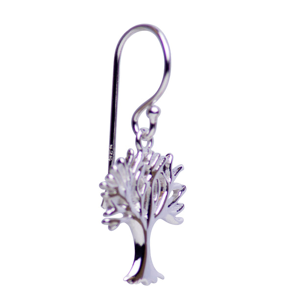 Sterling Silver Tree of Life Dangle Earrings | SilverAndGold