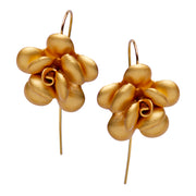 Matte Gold Over Silver Flower Earrings | SilverAndGold