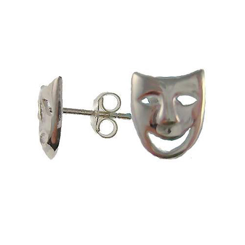 Sterling Silver Comedy and Tragedy Post Earrings