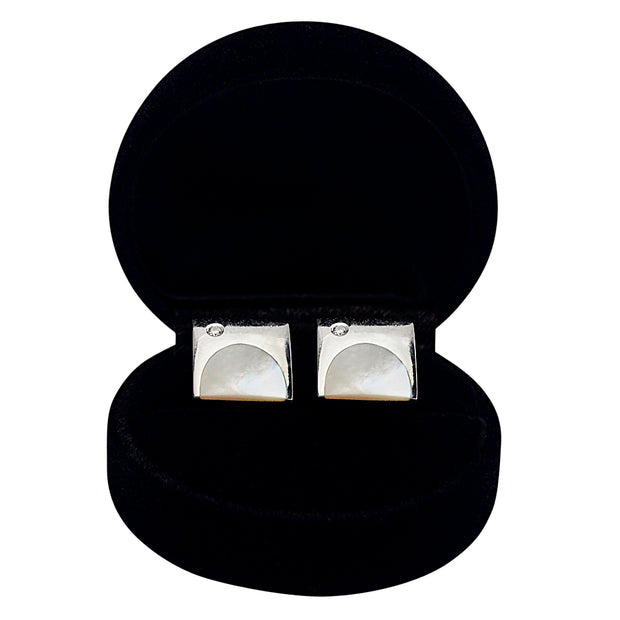 Mother of Pearl Sterling Silver Cufflinks | SilverAndGold