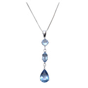 Sterling Silver and Topaz Pendant Necklace - SilverAndGold.com Silver And Gold