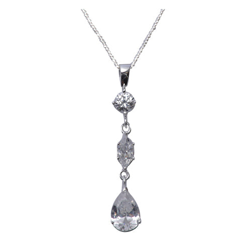 Sterling Silver and Crystal Gemstone Pendant - SilverAndGold.com Silver And Gold