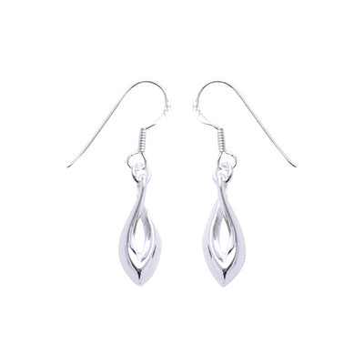 Sterling Silver Tear Drop Dangle Earrings | SilverAndGold