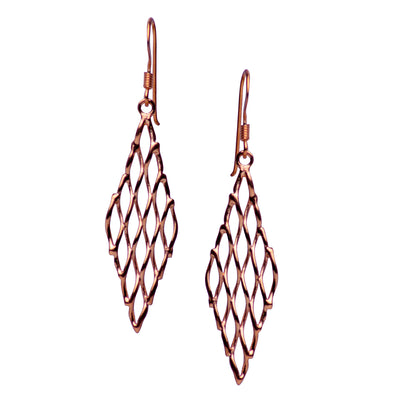 14K Rose Gold Plated Small Chandelier Earrings | SilverAndGold
