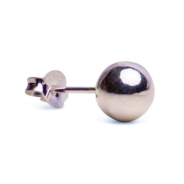 Sterling Silver Ball Stud Earrings | SilverAndGold