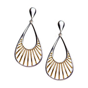 14K Yellow Gold Plated Silver Teardrop Earrings | SilverAndGold