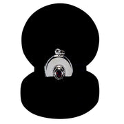 Garnet Oval Locket in Sterling Silver