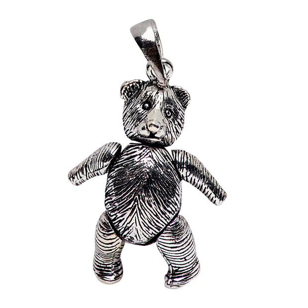 Sterling Silver Movable Bear Pendant