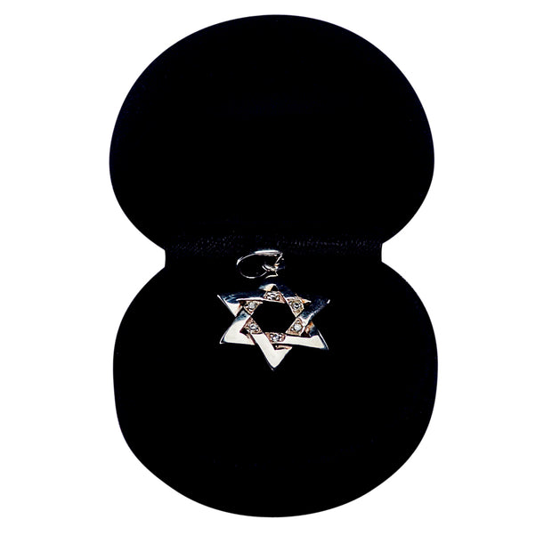 Sterling Silver And Crystal Star of David Pendant